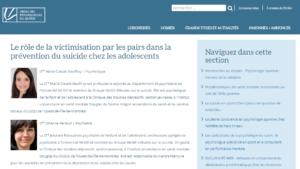 Le rôle de la victimisation par les pairs dans la prévention du suicide chez les adolescents